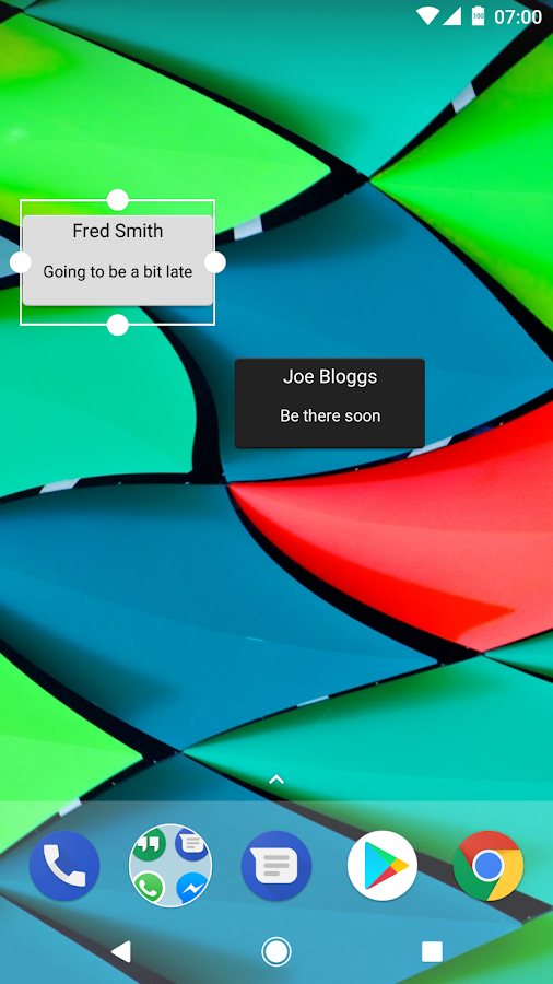 SMS Bot Widget- screenshot