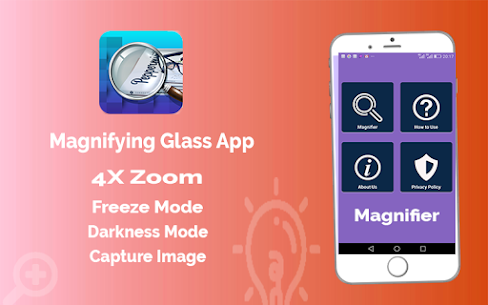 Magnifier App with Deep freez and Flashlight 4