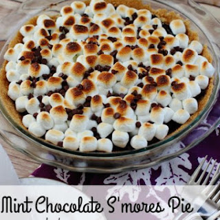 Mint Chocolate S'mores Pie
