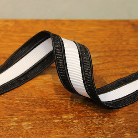 Rynkband - svart/vit