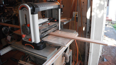 Photo: Milling the inwales to the proper thickness.