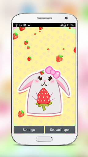 Cute Strawberry Live Wallpaper for PC