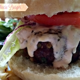 Buffalo Blue Cheese Burger #BurgerMonth.