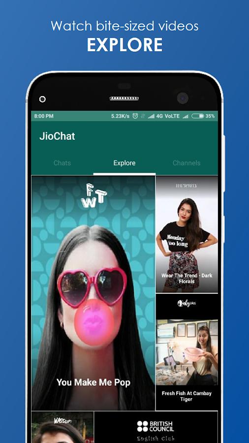 Screenshots of JioChat: HD Video Call for iPhone