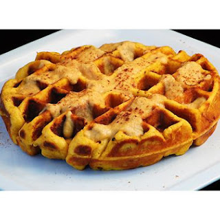 Pumpkin Bacon Waffles With Pumpkin Sauce