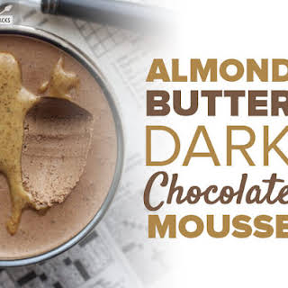 Almond Butter Dark Chocolate Mousse.