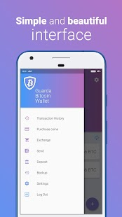 Guarda Bitcoin Wallet - náhled