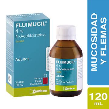 Fluimucil 4% Sin Azúcar   Jarabe Frasco x120Ml. Zambon N-Acetilcisteína