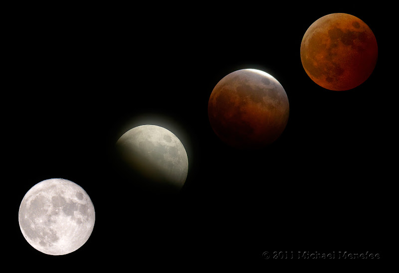 Photo: Phases of a Total Lunar Lunar Eclipse
