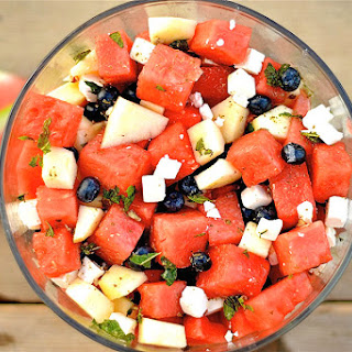 Watermelon and Blueberry Salad with Feta