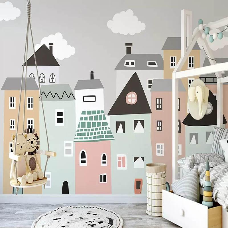 Inspirasi wallpaper unik untuk kamar anak - source: pinterest.com
