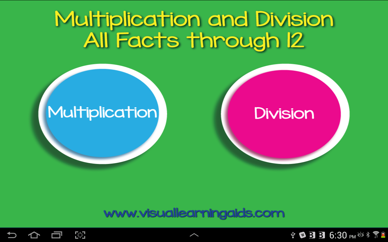 MultiplicationDivisionFlashCds- screenshot