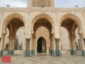 Photo: facade of Hassan II Mosque