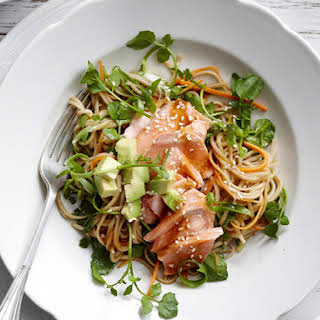Soba Noodle Salad with Salmon.
