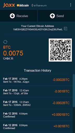 Jaxx Bitcoin Ethereum Wallet