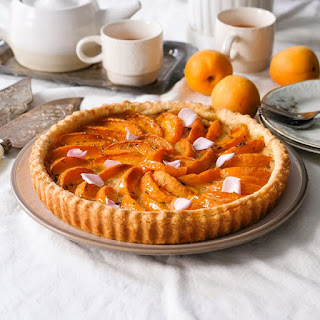 Honey Thyme Apricot Marzipan Tart.