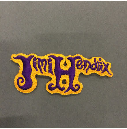 Jimi Hendrix  - Gul/Lila Logo - Tygmärke