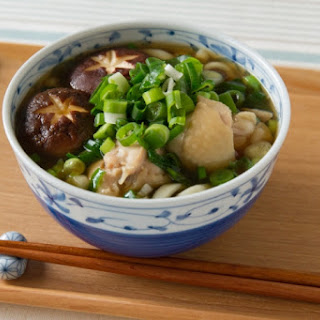Udon Noodles with Chicken and Scallion