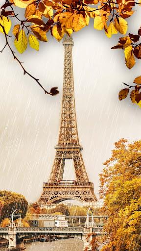 Download Rainy Paris Waterdrop Eiffel Tower Wallpaper on PC