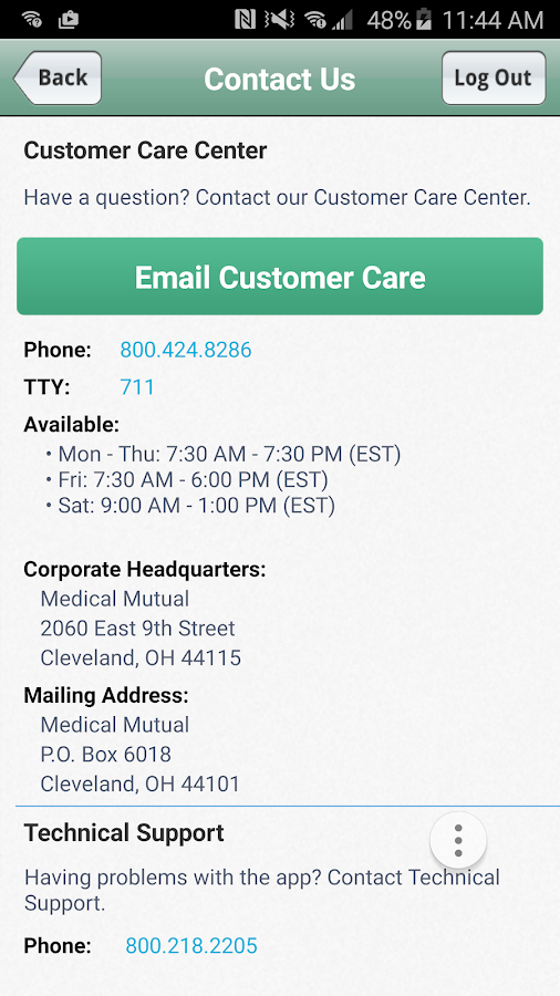 MedMutual- screenshot