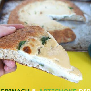 $7 Vegan Spinach & Artichoke Dip Pizza