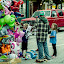 Balloon Animals by Frank Matlock II - People Street & Candids ( animals, happy, outdoors, street, children, inflated, ballon )