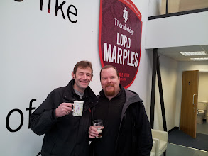 Photo: Here is our wonderful bus driver Steve on the left at Thornbridge with Russ. Steve! Steve! Steve!