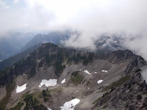 Photo: A fleeting view of the surrounding ridgelines