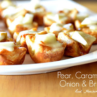 Pear Caramelized Onion and Brie Bites.