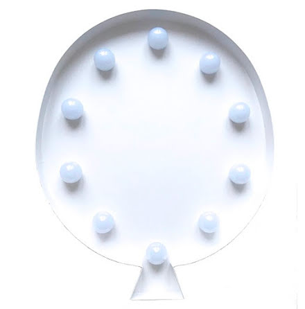 LED-lampa Ballong, vit
