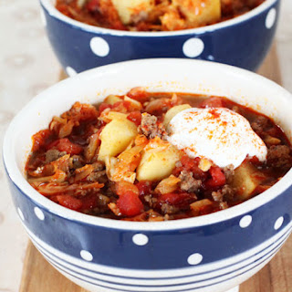 Slow Cooker Beef Goulash Soup.