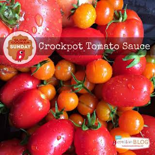 Crockpot Tomato Sauce.