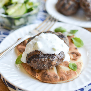 Grilled Beef & Lamb Kofta with Creamy Cucumber Sauce