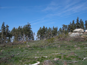 Photo: Ces montagnes font partie d'un massif granitique (batholite) parmi les plus importants d'Europe en superficie. Celui-ci comprend la Margeride proprement dite mais aussi la plus grande partie du socle de l'Aubrac jusqu'au plateau de la Viadène. Il constitue un témoin majeur de l'ancienne chaîne hercynienne qui traversait autrefois toute l'Europe.