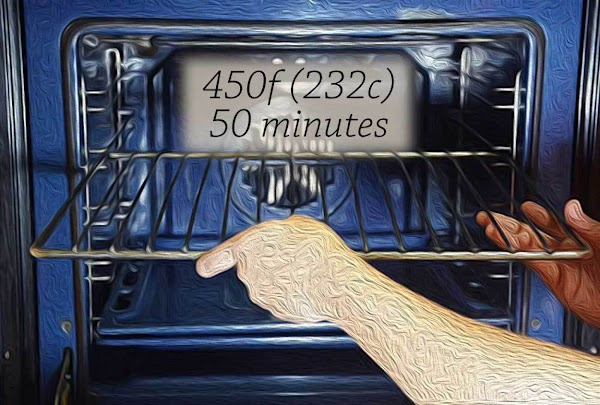 Preheat the oven to 450f/232c