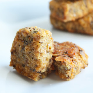 Cheesy Flax & Chia Seed Cracker Bread (Low Carb and Gluten Free).