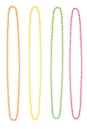 Halsband, neonfärger 4-pack