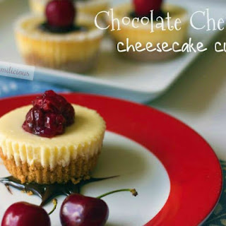 Chocolate Cherry Cheesecake Cups