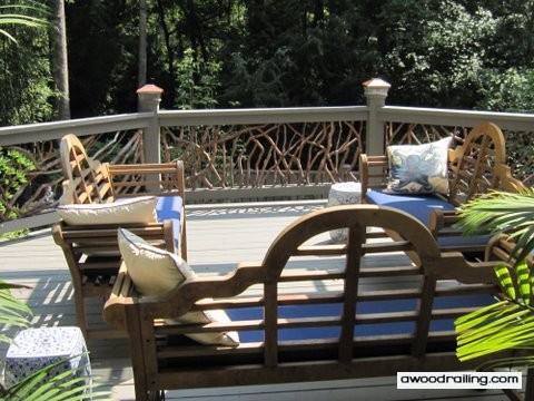 Photo: Rustic Railings and Deck Furniture