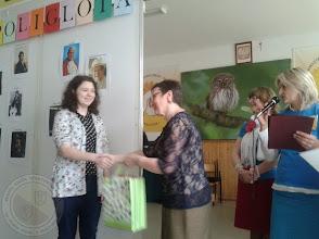 Photo: Finał Wojewódzkiego konkursu Językowego Poliglota 2014 - Laureatka W. Suchowolec 3d