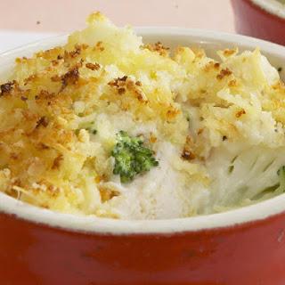 Chicken, Broccoli and Cauliflower bake.