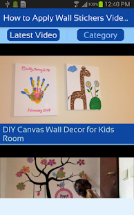 How To Apply Wall Stickers Videos DIY Wall Decor Android Apps - How to apply wall decals