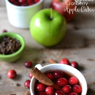 Crock Pot Spiced Cranberry Apple Cider.