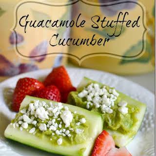 Guacamole Stuffed Cucumber.
