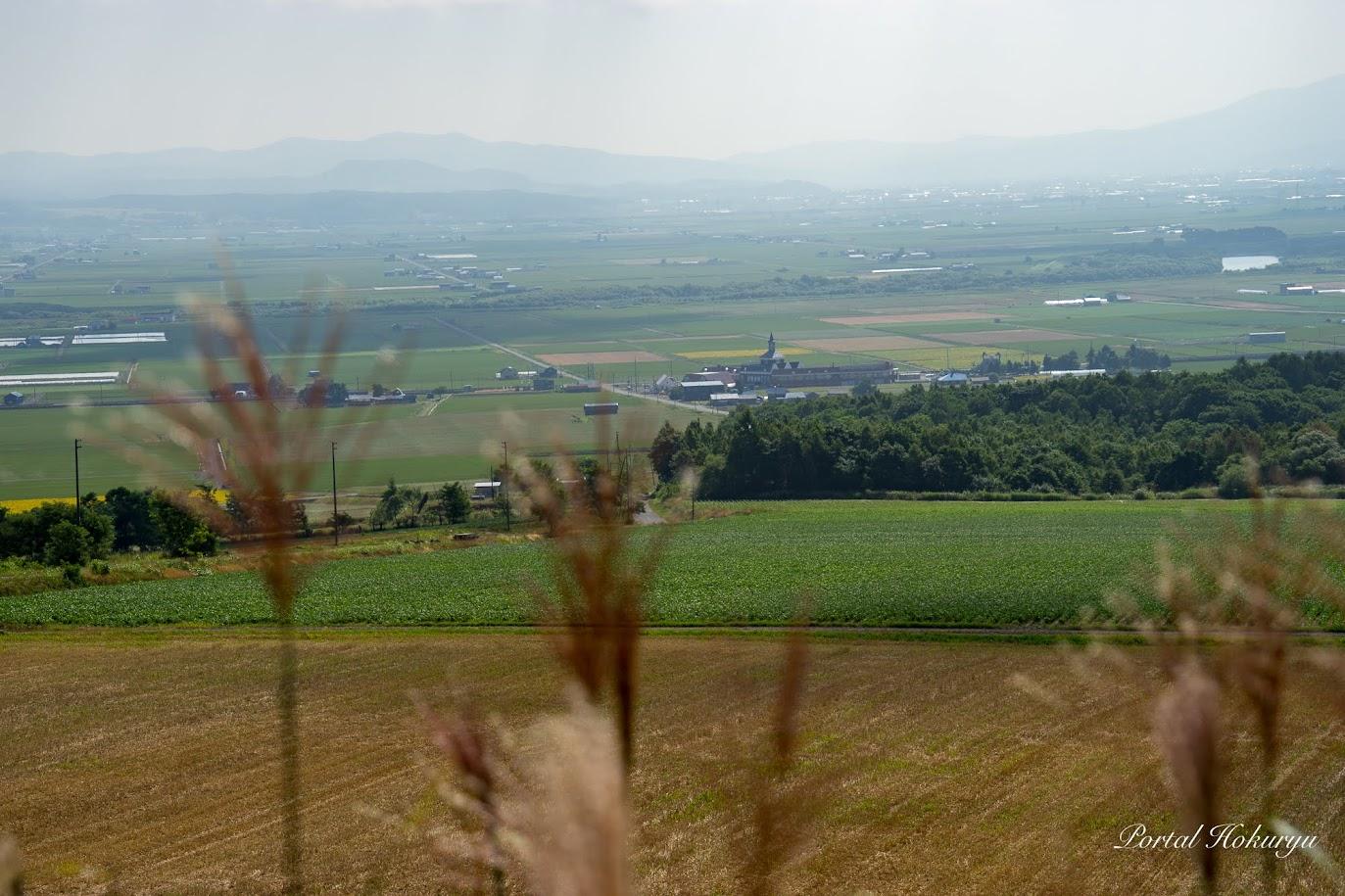 眺望の丘から北竜町を望む