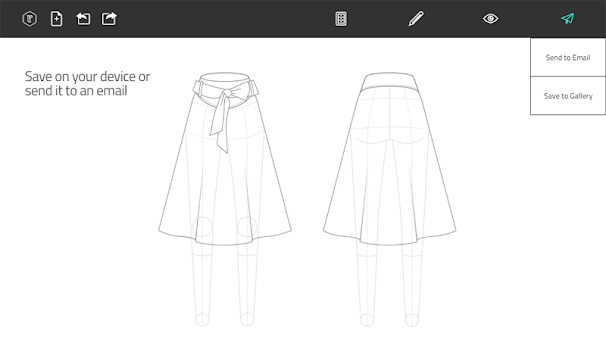 Fashion Design Flat Sketch APK screenshot thumbnail 16