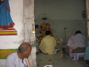 Photo: Chakla Dham (January 28, 2009) Pujari doing worship rituals to Baba Lokenath Bigraha
