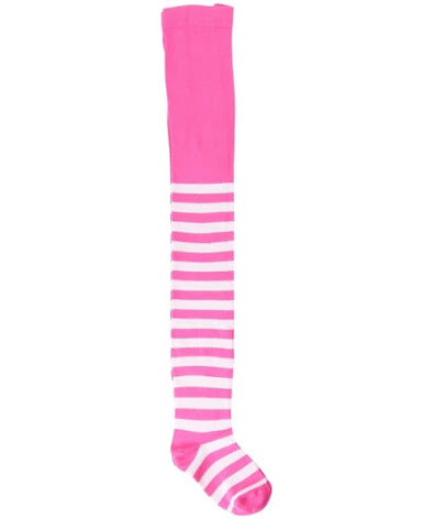 Maxomorra Strumpbyxa Pink Stripe