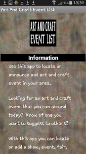 Art And Craft Event List- screenshot thumbnail
