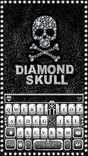 Diamond Skull Kika Keyboard Screenshot